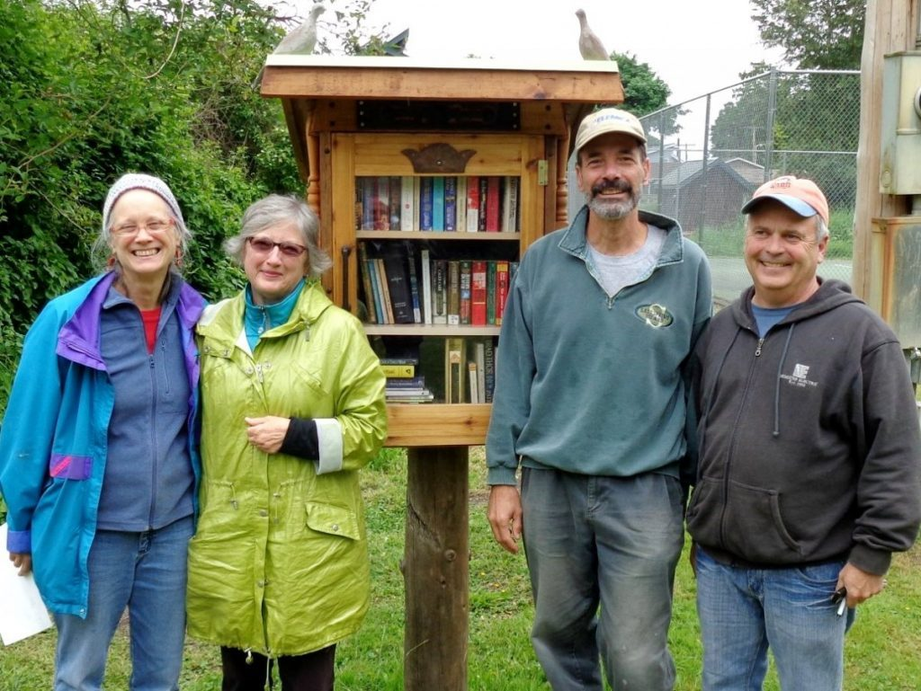 Point Roberts Friends of the Library with their Little Free Library