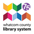 Whatcom County Library System 75th Anniversary Logo