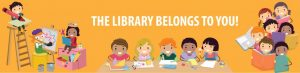 Kids Page Logo - The Library Belongs to You