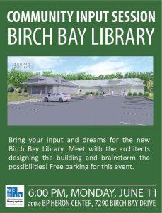 Birch Bay Community Meeting flier - Monday June 11, 2018, 6:00 p.m.