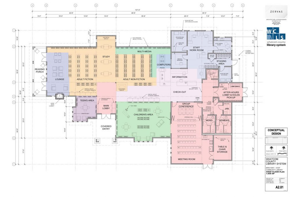 Birch Bay Library Floor Plan