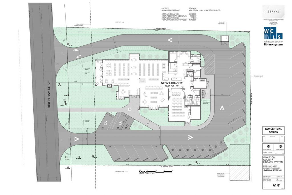Birch Bay Library Site Plan