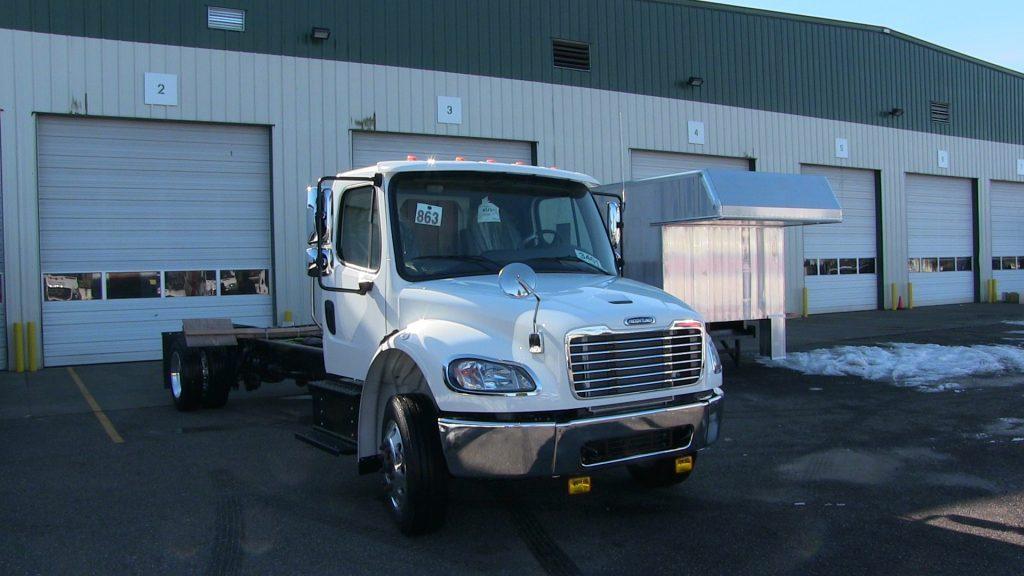 Custom truck cab for WCLS Bookmobile