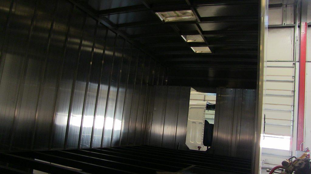 Interior of Bookmobile truck bed