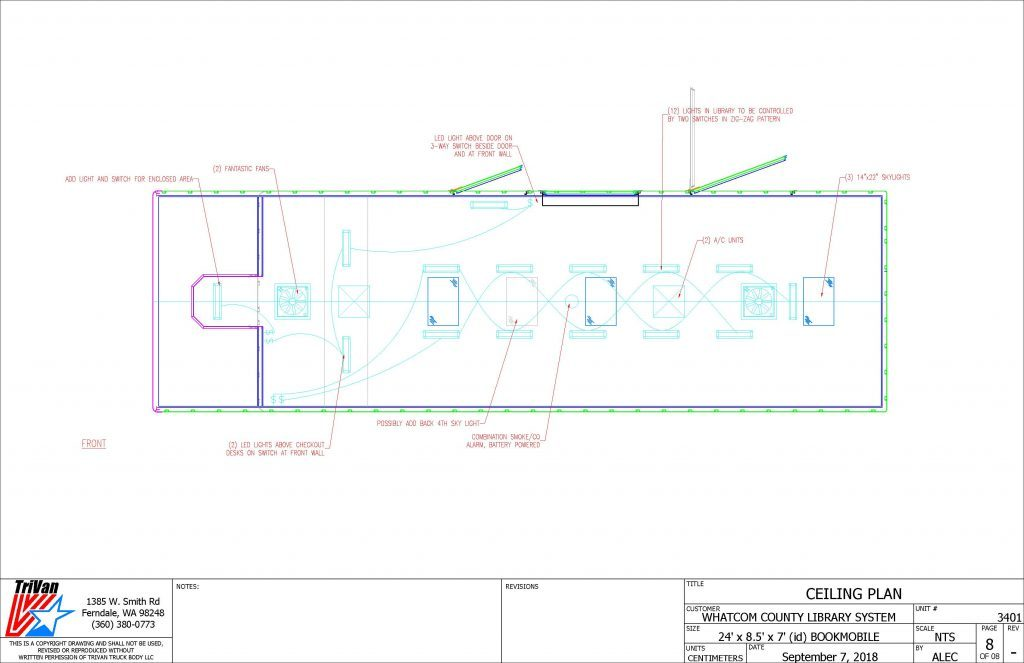 Bookmobile Ceiling Plan drawing