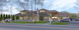 Architect rendering of Birch Bay Library