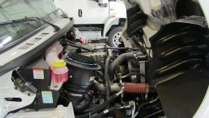 Bookmobile engine compartment