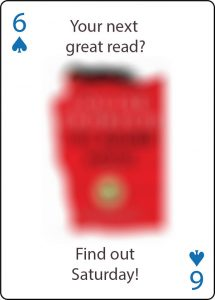 Your next great read? Find out Saturday.