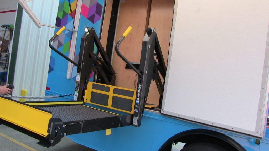 Bookmobile wheelchair ramp