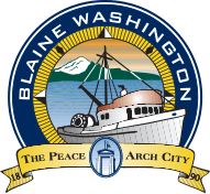"City of Blaine logo: ""The Peace Arch City"""