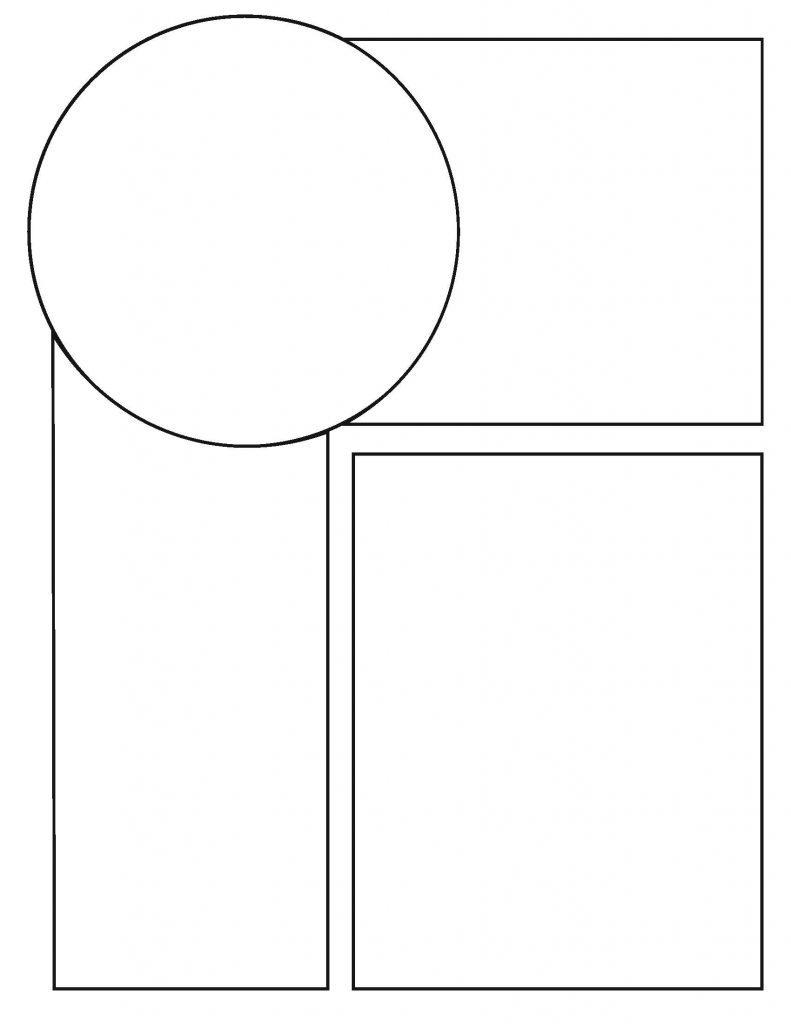 Comics Circle and Squares