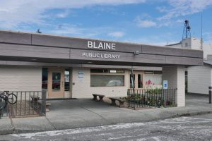 Blaine Library front entrance
