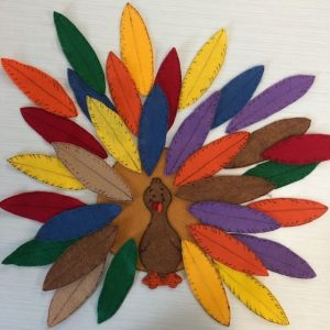 Turkey Feathers Felt Story