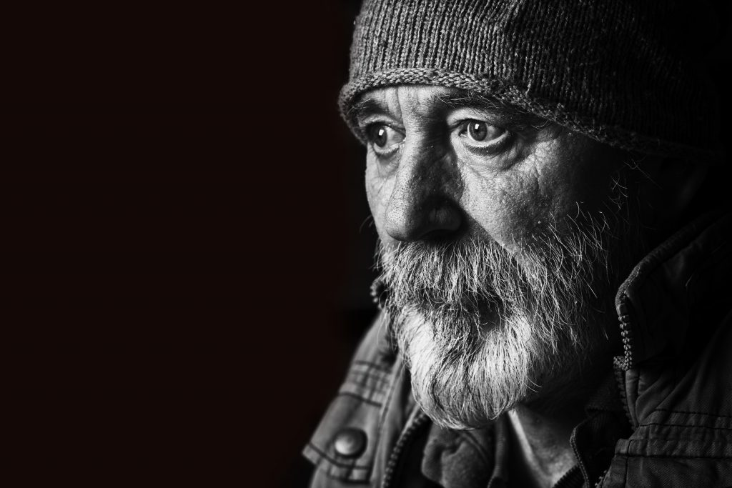 stock photo of homeless man