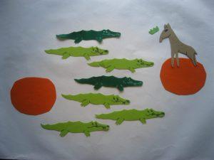 Counting Crocodiles Felt Story