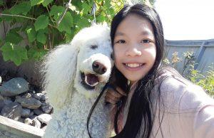Photo of girl and dog