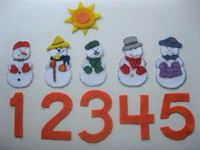 Five Little Snowpals Felt Story