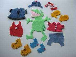 Froggy Gets Dressed Felt Story