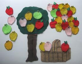 How Many Apples Felt Story