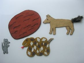 Rattlesnake, Mouse and Coyote Felt Story
