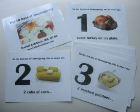 Ten Days of Thanksgiving Picture Cards
