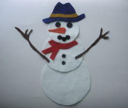 The Snowman Felt Story