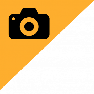 camera icon on yellow snipe
