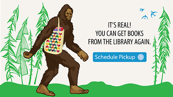 It's real. You can get books from the library again. Click here to schedule a pickup.