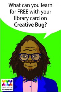 What can you learn for free with your library card on Creative Bug?