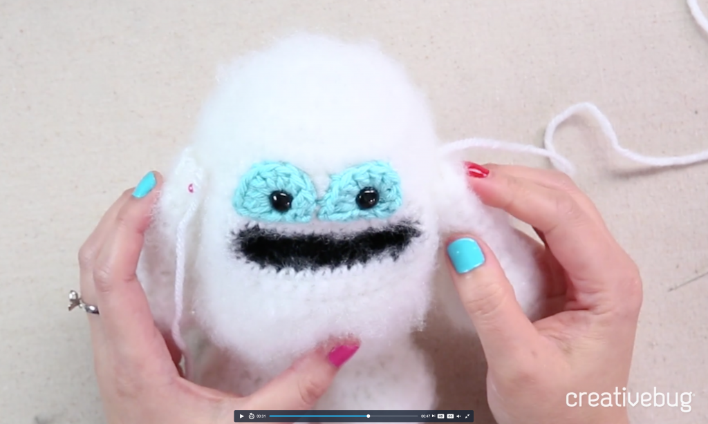Image of crocheted creature