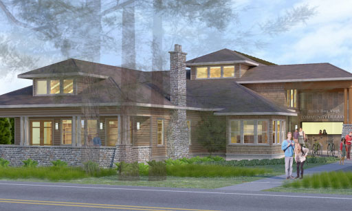 Architect drawing of proposed Birch Bay Library