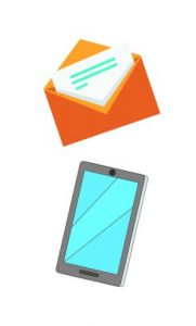 image of envelope and smart phone