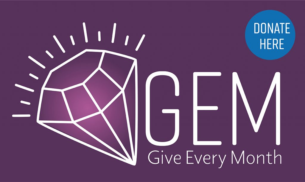 Give Every Month (GEM) logo