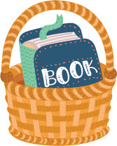 basket with book