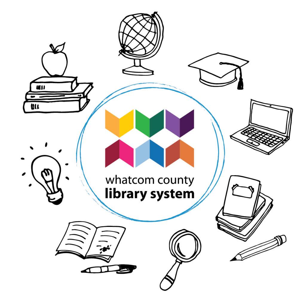 Image of globe, books, light bulb, journal, magnifying glass, school workbooks, laptop computer and graduation cap