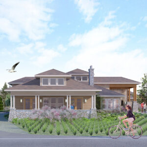 Architect's rendering of Birch Bay Library